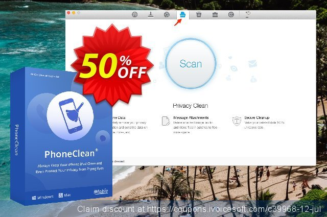 PhoneClean Pro for Mac discount 50% OFF, 2020 April Fools' Day offering sales