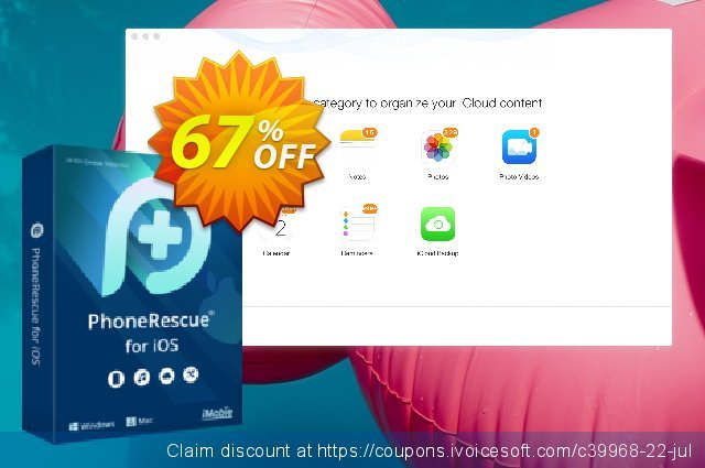 PhoneRescue for Windows - family license discount 67% OFF, 2020 January sales