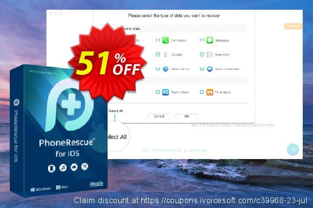 PhoneRescue for Mac discount 30% OFF, 2020 Back to School offer promo