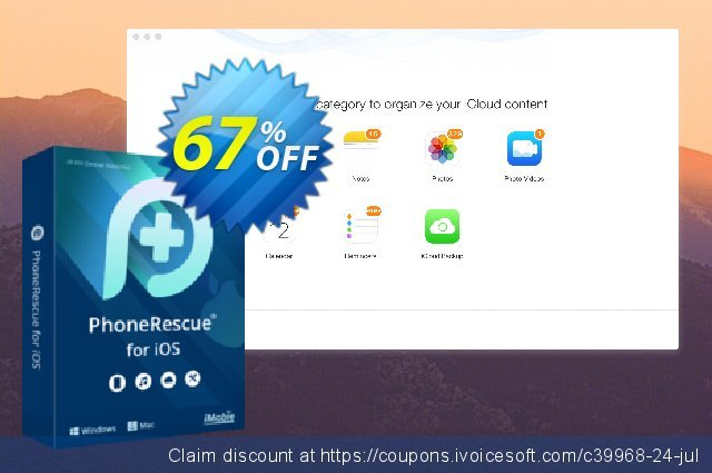 PhoneRescue for Mac - family license discount 67% OFF, 2019 Back to School season offering sales