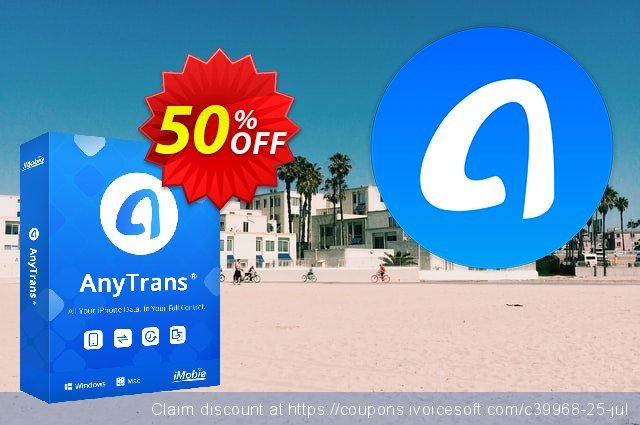 Get 80% OFF AnyTrans for Windows - family license offering sales