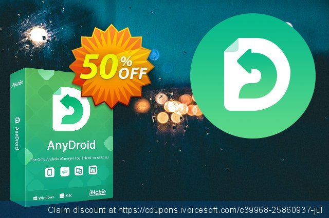 iMobie AnyDroid Family Plan (Lifetime License) discount 50% OFF, 2021 World Bicycle Day sales. 55% OFF AnyDroid Family Plan (Lifetime License), verified