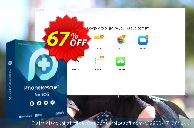 PhoneRescue for iOS - family license discount 67% OFF, 2019 College Student deals offering sales