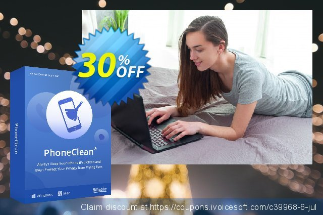 PhoneClean Pro discount 30% OFF, 2020 Fourth of July promo sales