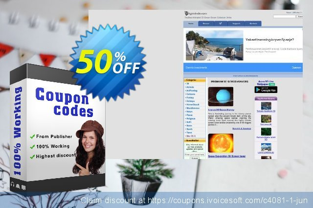 ElectriCalm 3D Screensaver discount 50% OFF, 2020 New Year discounts