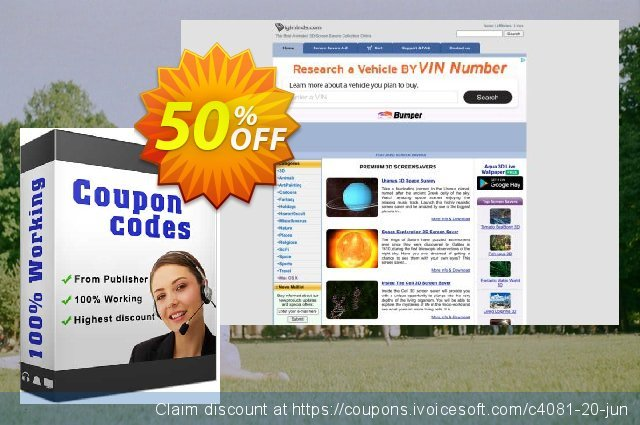 3D Winter Screensaver discount 50% OFF, 2019 Thanksgiving Day offering sales