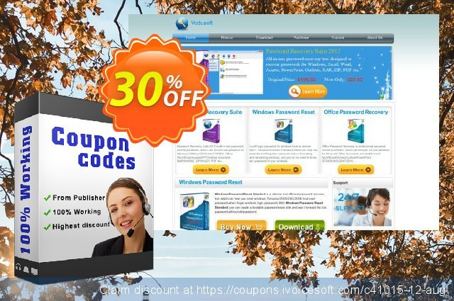 Vodusoft Windows Password Reset Special discount 30% OFF, 2020 4th of July offering deals
