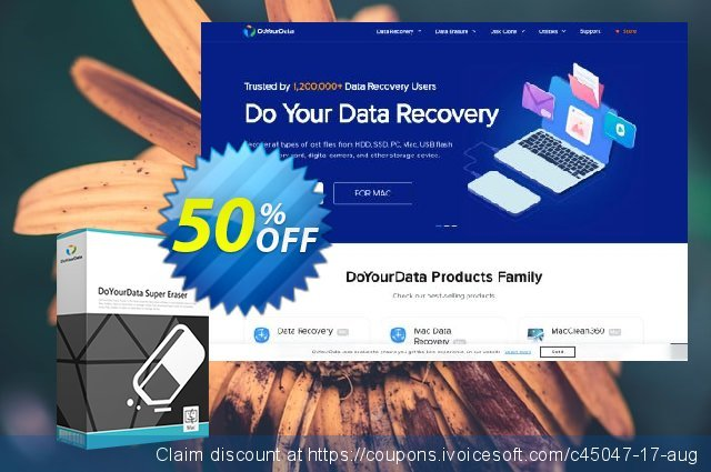 DoYourData Super Eraser for Mac Business Lifetime discount 30% OFF, 2019 Black Friday offering sales