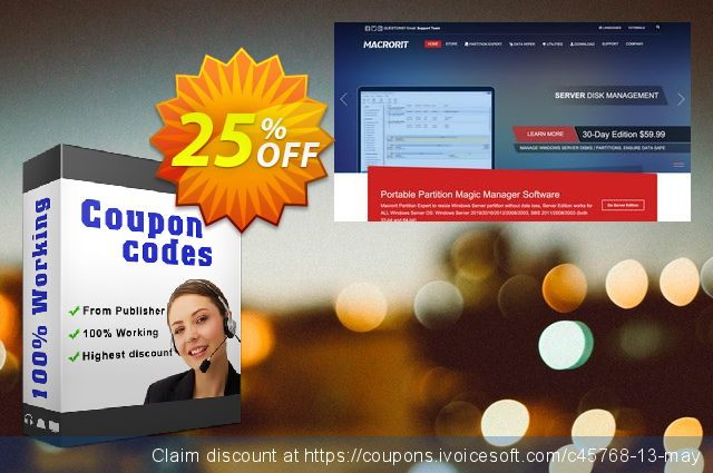 Macrorit Disk Partition Wiper Pro + Free Lifetime Upgrade Service discount 25% OFF, 2020 Summer discount