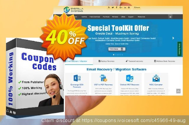Enstella AddressBook Converter Toolkit discount 40% OFF, 2019 Black Friday promo sales