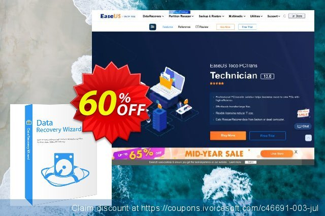 EaseUS Data Recovery Wizard Technician Lifetime 最佳的 优惠 软件截图