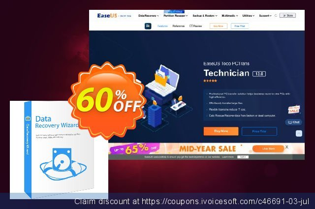 EaseUS Data Recovery Wizard Technician (2 years) 驚くこと 促進 スクリーンショット