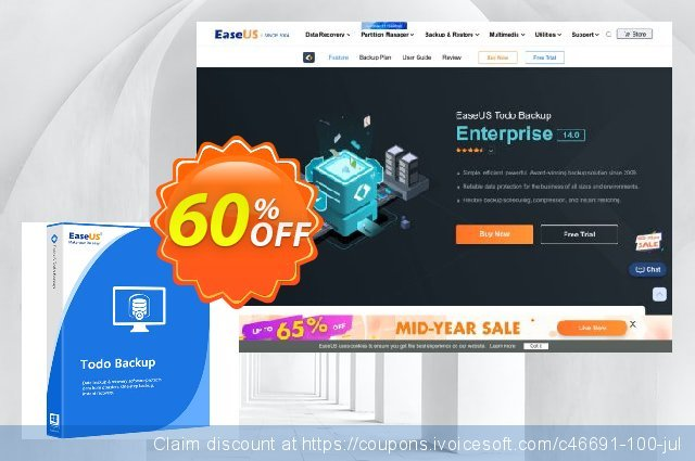 EaseUS Todo Backup Advanced Server (2 year) discount 50% OFF, 2021 Chocolate Day offering deals