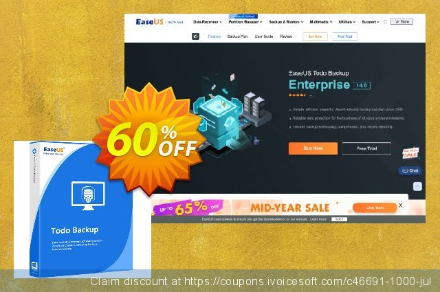 EaseUS Todo Backup Advanced Server (Lifetime) discount 60% OFF, 2021 Women Day offering discount