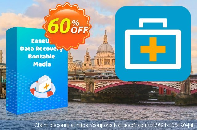 EaseUS Data Recovery Bootable Media discount 50% OFF, 2021 Teddy Day promo sales