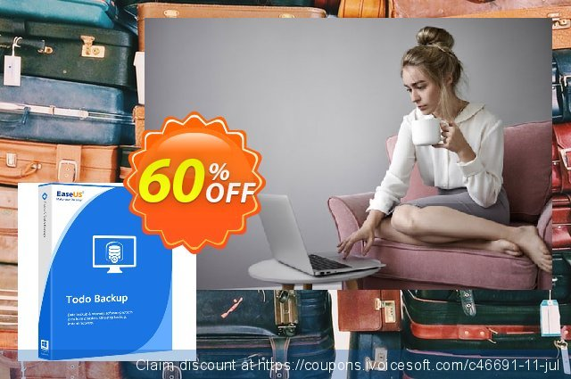 EaseUS Todo Backup Technician (1 year) discount 50% OFF, 2021 Hug Day offering sales
