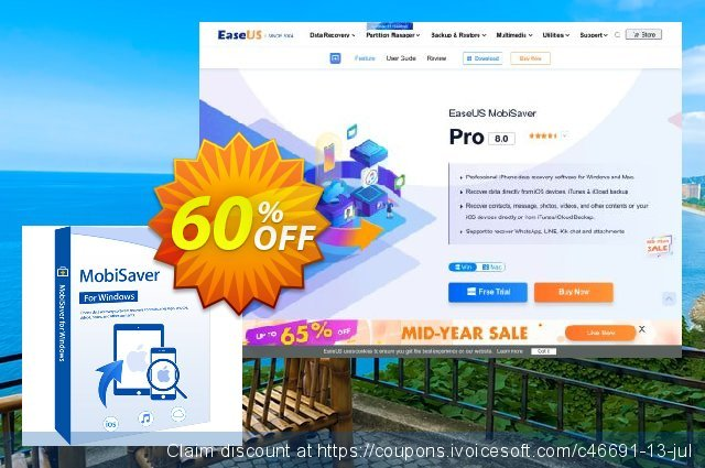 EaseUS MobiSaver Pro discount 50% OFF, 2021 Valentines Day offering sales