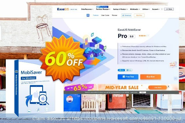EaseUS MobiSaver Technician discount 50% OFF, 2021 January offering sales