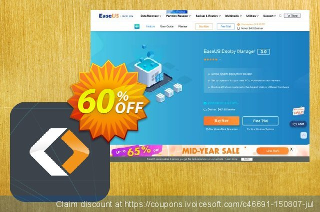 EaseUS Deploy Manager discount 40% OFF, 2020 Thanksgiving offering deals