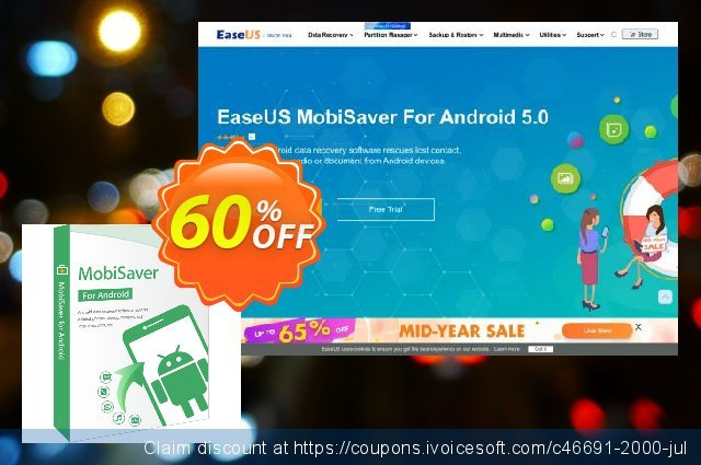 EaseUS MobiSaver for Android For Business discount 50% OFF, 2021 New Year's Day offering sales