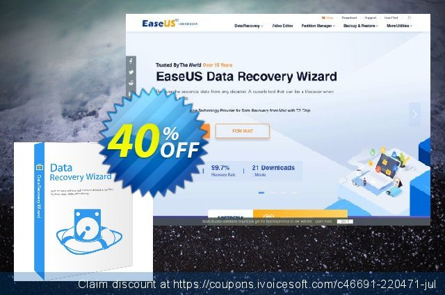 EaseUS Data Recovery Wizard Pro (Monthly) discount 50% OFF, 2020 Halloween offering sales