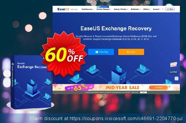 EaseUS Exchange Recovery (1-Year) discount 40% OFF, 2020 Thanksgiving Day offering deals