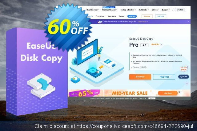 EaseUS Disk Copy Pro (2-Year) discount 40% OFF, 2020 Thanksgiving offering sales