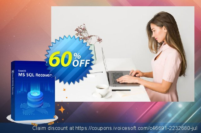 EaseUS MS SQL Recovery (1 year) discount 40% OFF, 2020 Black Friday offering sales