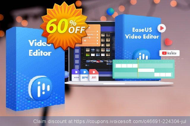 EaseUS Video Editor (1-Month License) 대단하다  세일  스크린 샷