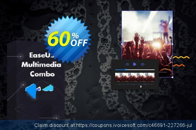 EaseUS Multimedia Combo: MobiMover + RecExperts + Video Editor 1 month discount 60% OFF, 2021 All Hallows' evening promo. 60% OFF EaseUS Multimedia Combo: MobiMover + RecExperts + Video Editor 1 month, verified
