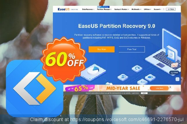 EaseUS Partition Recovery (1 month) discount 41% OFF, 2020 Black Friday offering sales