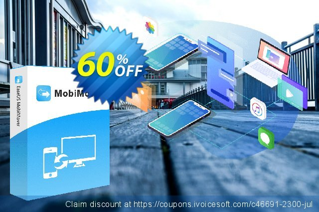 EaseUS MobiMover Pro (Lifetime) discount 50% OFF, 2021 Kiss Day offering sales