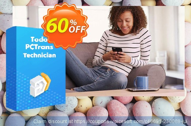 EaseUS Todo PCTrans Technician (Lifetime) discount 50% OFF, 2021 Kiss Day offering sales