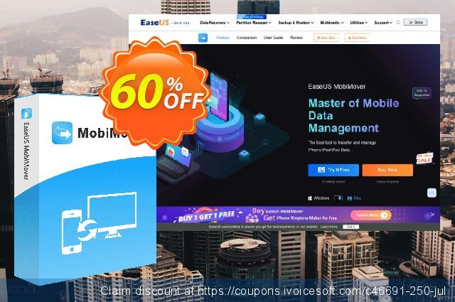 EaseUS MobiMover for Mac Pro (Lifetime) discount 50% OFF, 2021  Lover's Day offering discount