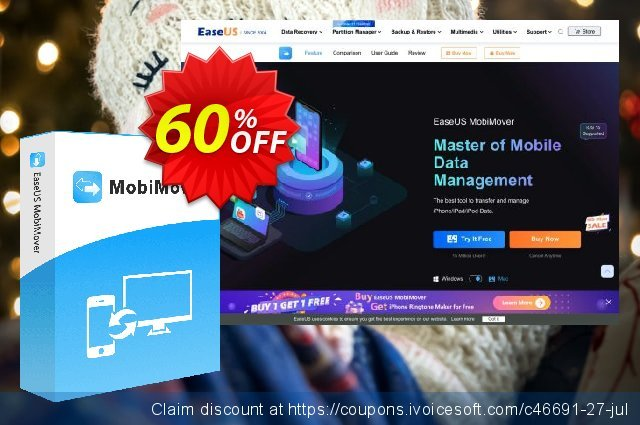 EaseUS MobiMover for Mac Pro (For 1 Year License)  멋있어요   프로모션  스크린 샷