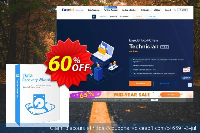 EaseUS Data Recovery Wizard Technician discount 20% OFF, 2019 Happy New Year offering sales