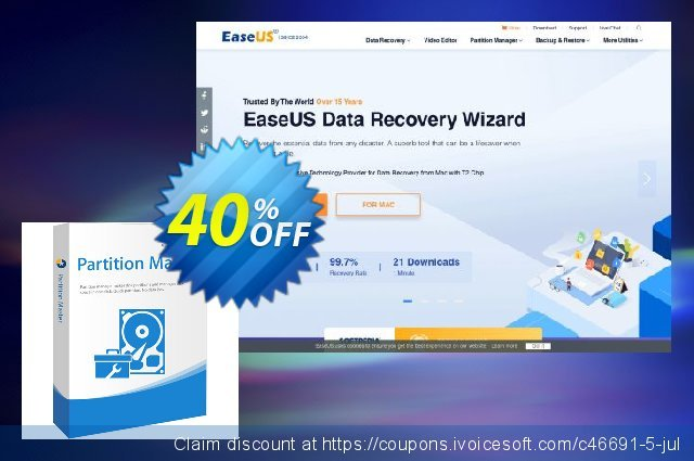 EaseUS Partition Master Professional discount 30% OFF, 2019 Spring promo sales