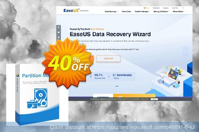 EaseUS Partition Master Server discount 20% OFF, 2019 New Year promo