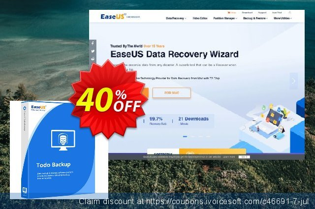 EaseUS Todo Backup Home discount 50% OFF, 2019 Christmas offer