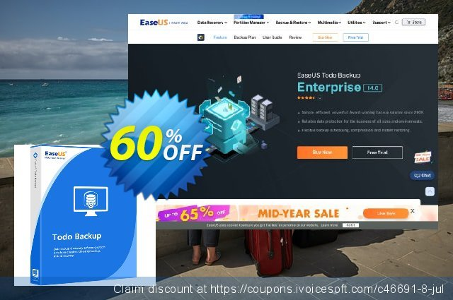 EaseUS Todo Backup Workstation (1 year) discount 60% OFF, 2021 Earth Hour offering sales