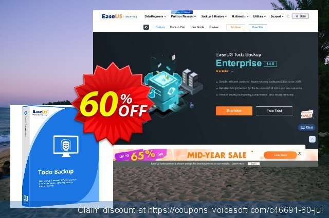 EaseUS Todo Backup Workstation (2 year) discount 60% OFF, 2021 Women Day promo sales