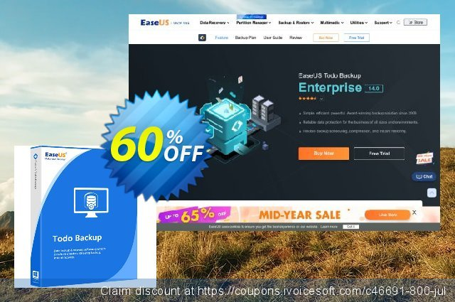 EaseUS Todo Backup Workstation (Lifetime) 令人敬畏的 促销 软件截图