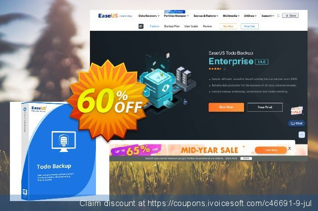 EaseUS Todo Backup Server (1 year) discount 60% OFF, 2021 Daylight Saving offering sales