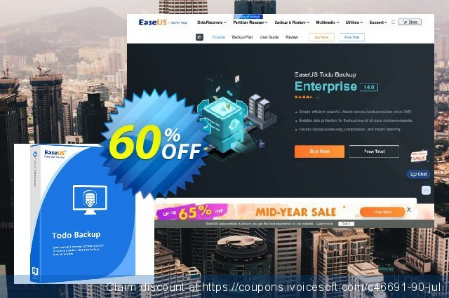 EaseUS Todo Backup Server (2 years) discount 60% OFF, 2021 Earth Hour discounts