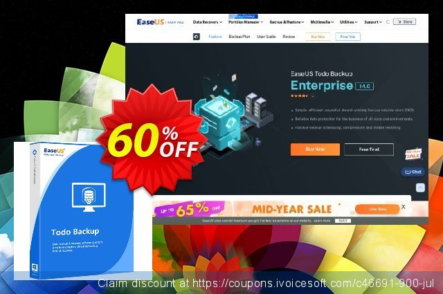 EaseUS Todo Backup Server (Lifetime) discount 50% OFF, 2021 Library Lovers Month promo
