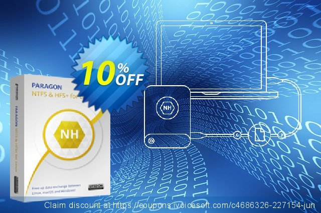 Paragon Microsoft NTFS for Linux discount 10% OFF, 2021 Mother Day offering sales. 10% OFF Paragon Microsoft NTFS for Linux, verified