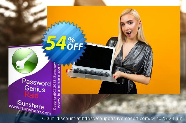 iSunshare Password Genius Raid discount 54% OFF, 2019 Halloween offering sales