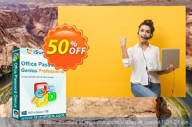 iSunshare Office Password Genius Professional discount 50% OFF, 2020 Back to School shopping offering sales