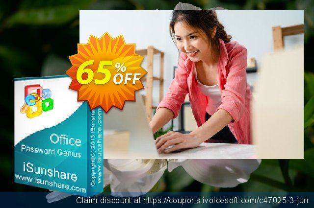 iSunshare Office Password Genius discount 65% OFF, 2019 Thanksgiving Day offering sales