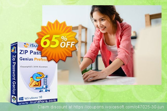 iSunshare ZIP Password Genius Professional  굉장한   촉진  스크린 샷